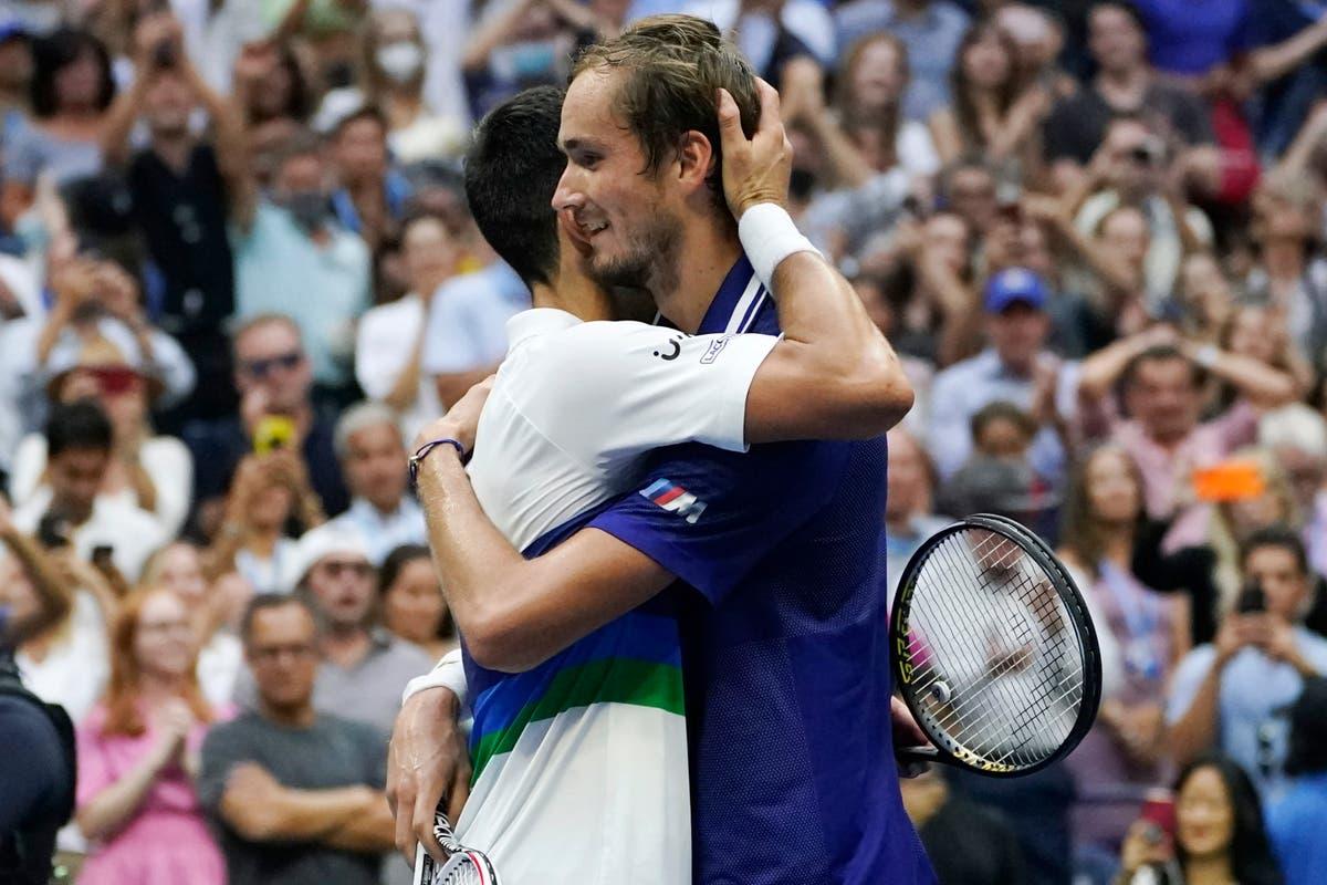 US Open day 14: Daniil Medvedev thwarts Novak Djokovic's bid for 2021 slam