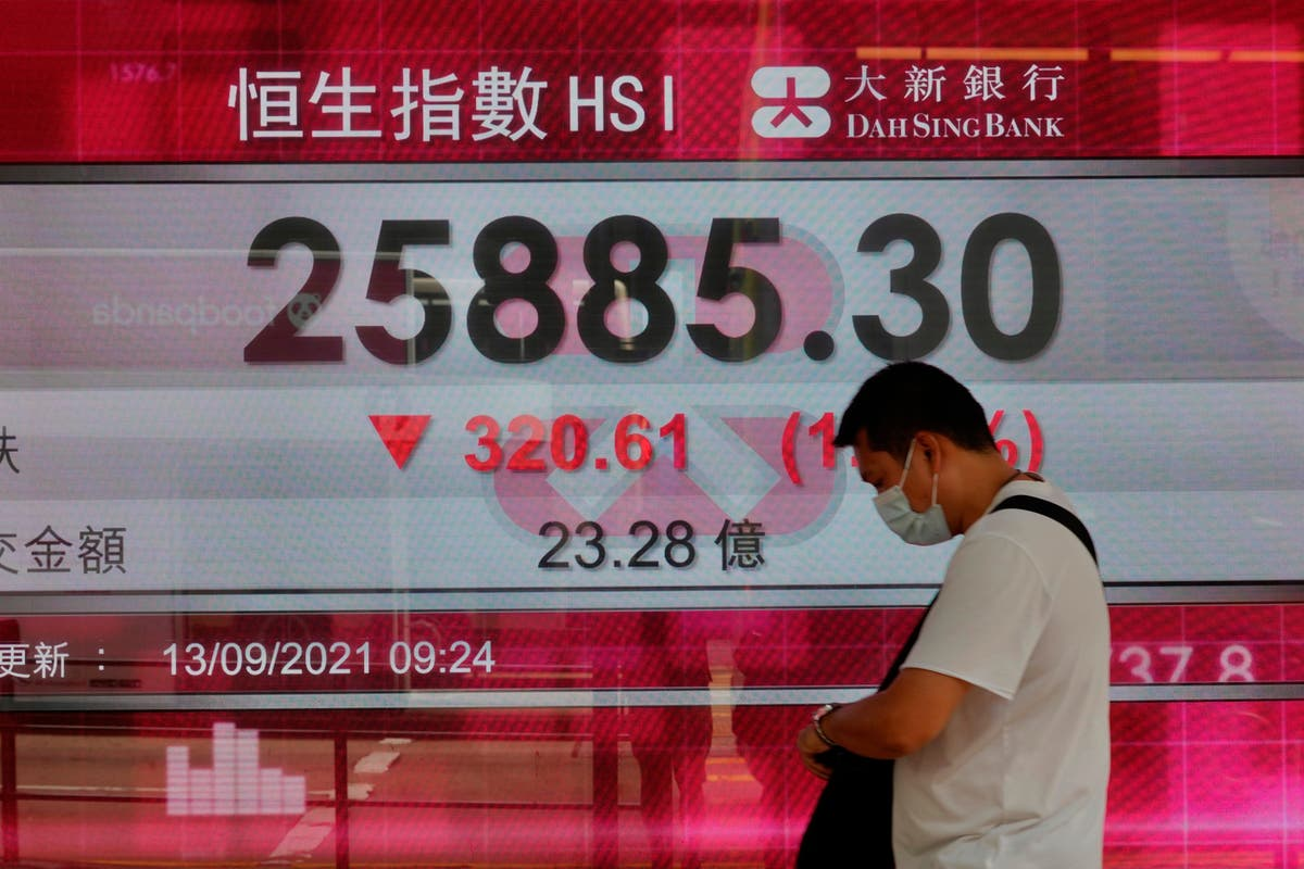 Asian shares trend lower after Wall St ends with weekly loss