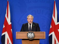 When is Boris Johnson set to give his winter Covid update?
