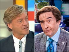 Viewers say Richard Madeley has gone 'full Alan Partridge' on GMB return