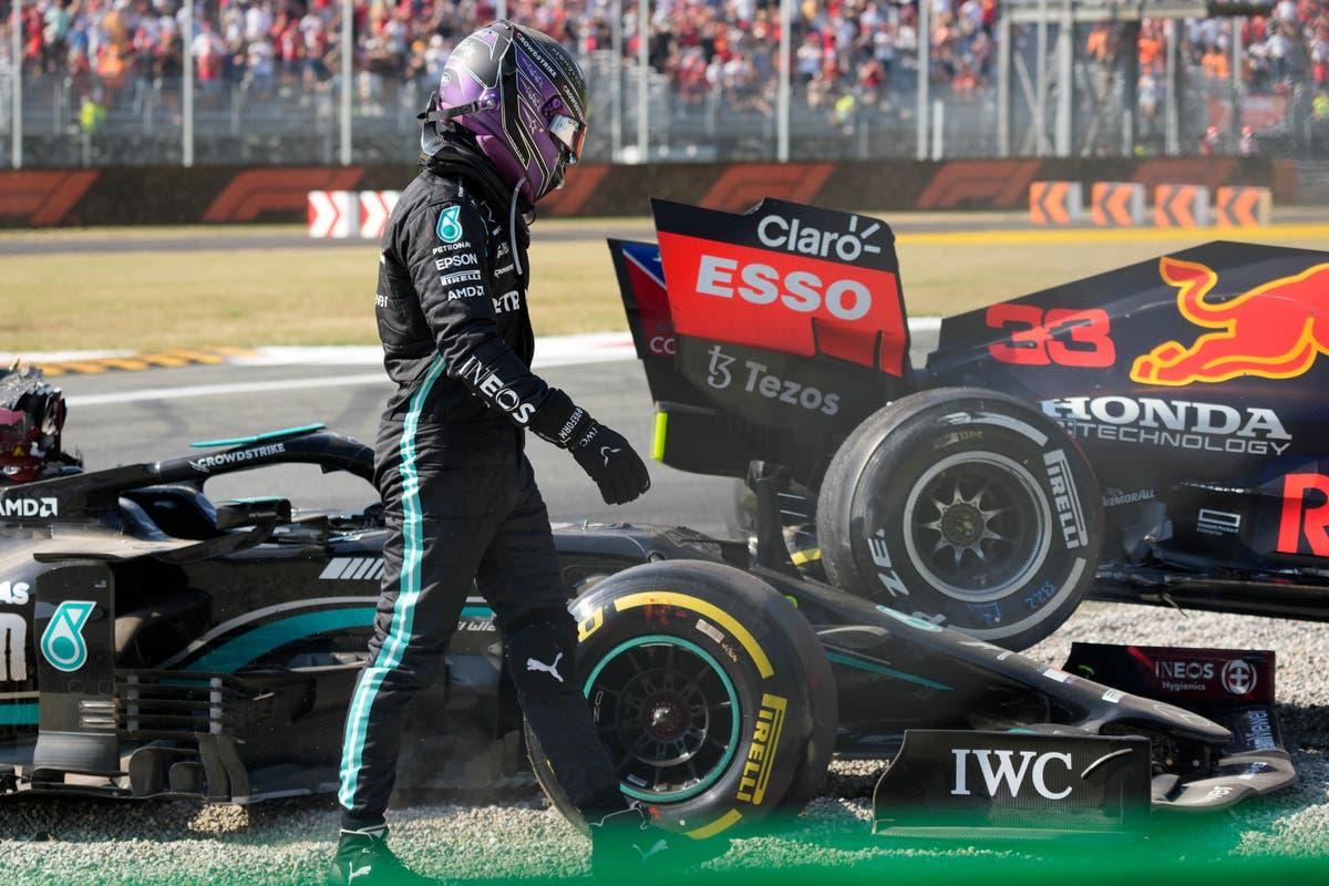 Lewis Hamilton accused of 'over-dramatising' Max Verstappen crash