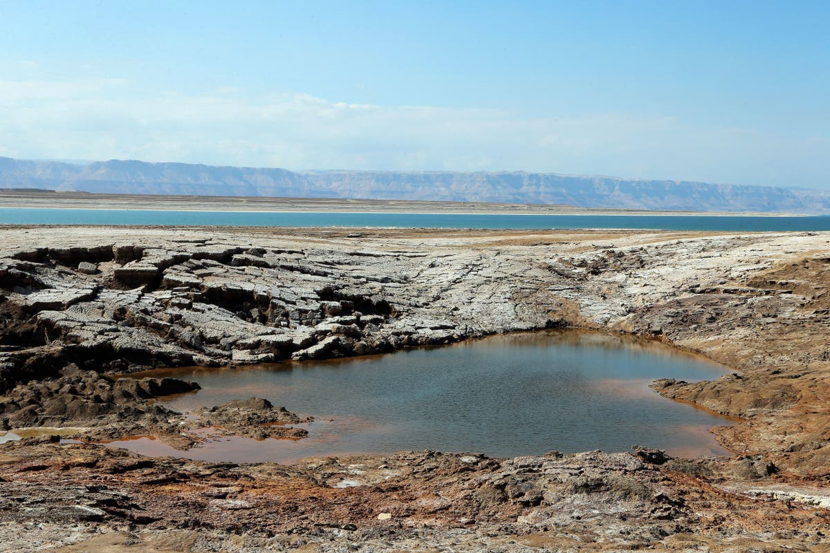 Jordan authorities investigate after pool of water near the Dead Sea turns blood red