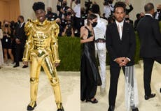 From Lil Nas X to Lewis Hamilton, men didn't hold back at the Met Gala