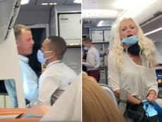 Couple thrown off flight after mask row