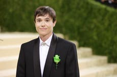 Why Elliot Page wore a green flower on his Met Gala suit