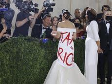 Alexandria Ocasio-Cortez responds to criticism of 'tax the rich' dress worn at Met Gala
