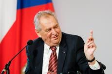 Hospitalized Czech president to return to work next week