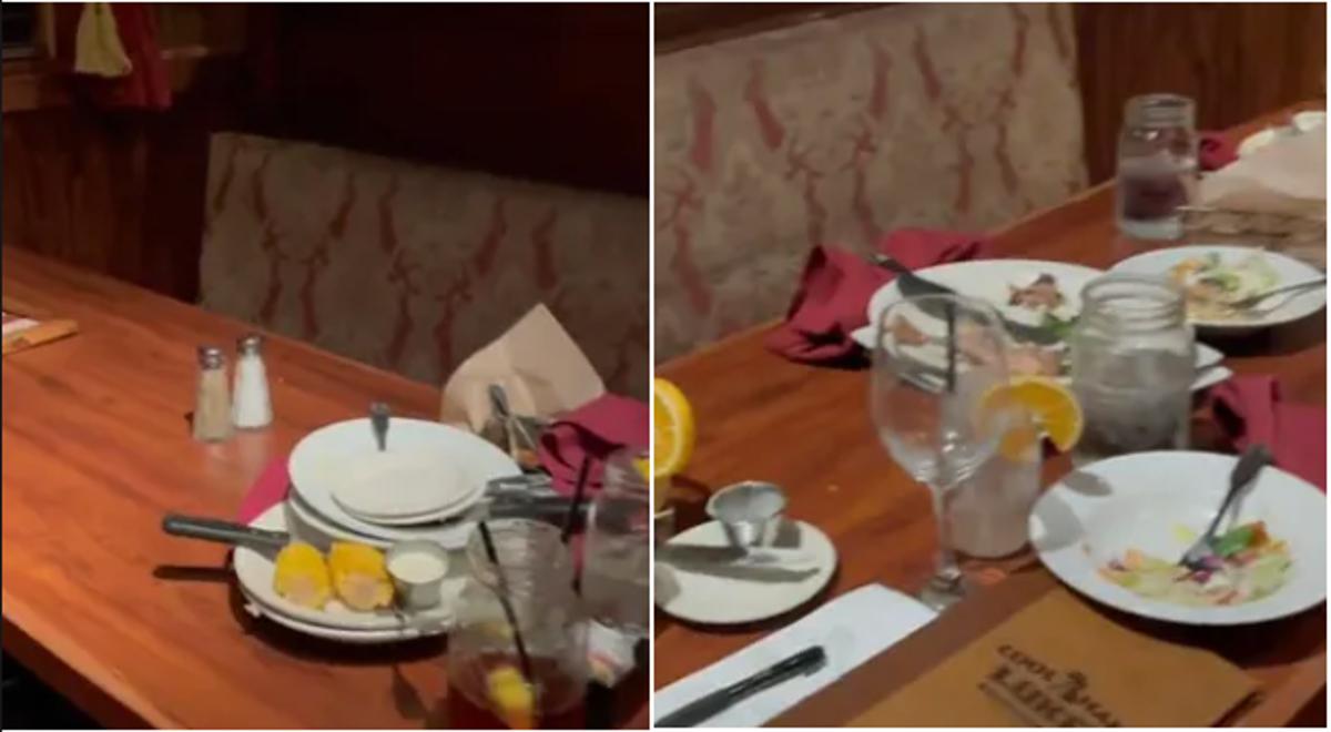 O vídeo compara a limpeza da geração z com os clientes dos restaurantes boomer