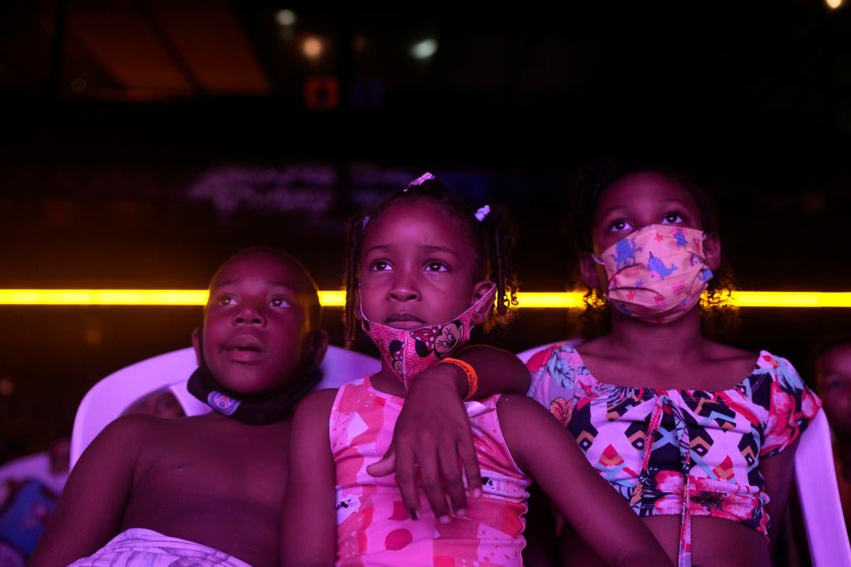 Rio favela kids get free movie after pandemic hardships