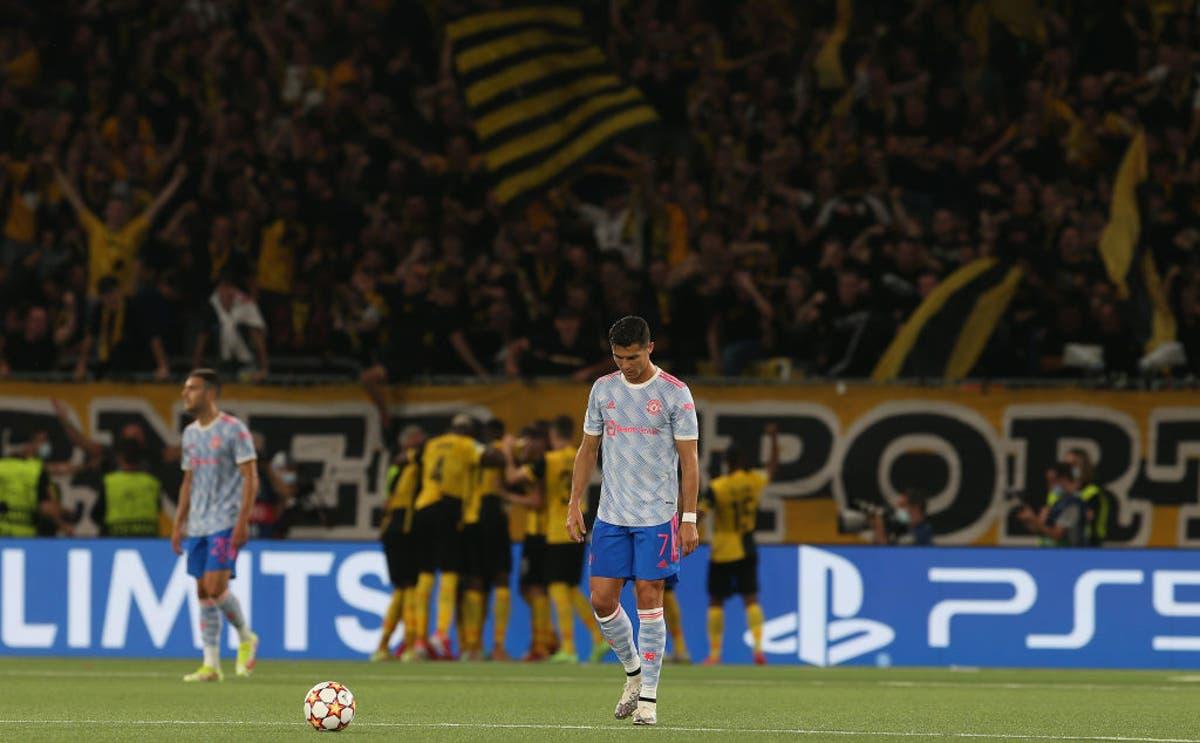 Player ratings as 10-man Man United lose at Young Boys