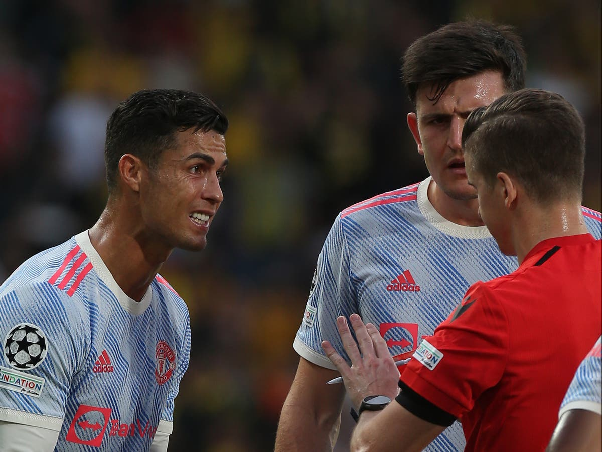 Ole Gunnar Solskjaer questions young referee over Cristiano Ronaldo penalty call