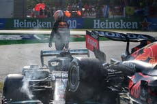 Lewis Hamilton to 'see specialist' over injury after crash with Max Verstappen at Monza