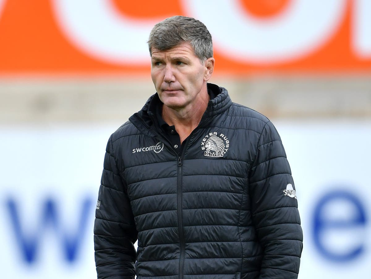 Exeter coach Rob Baxter toasts top-flight return for rivals Saracens