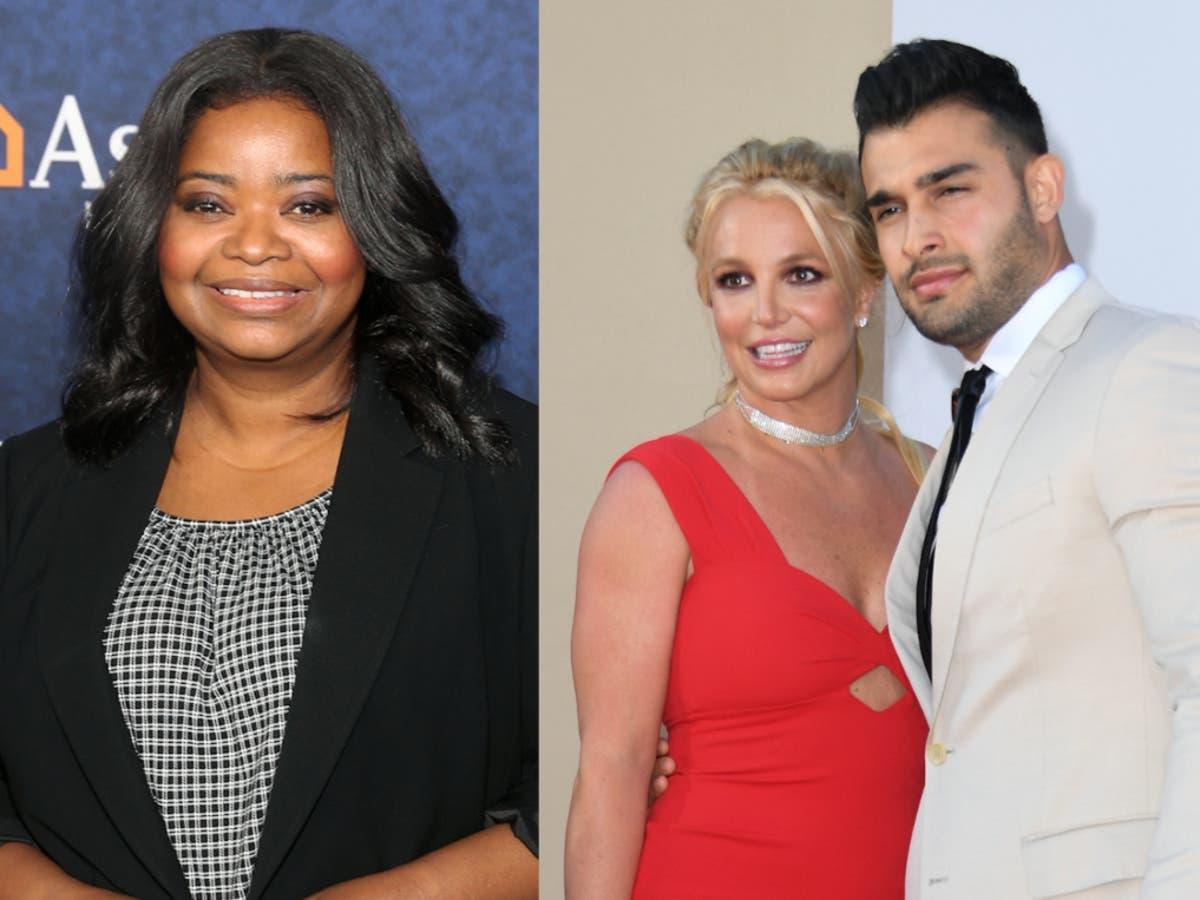Britney Spears's fiancé responds to Octavia Spencer's prenup joke