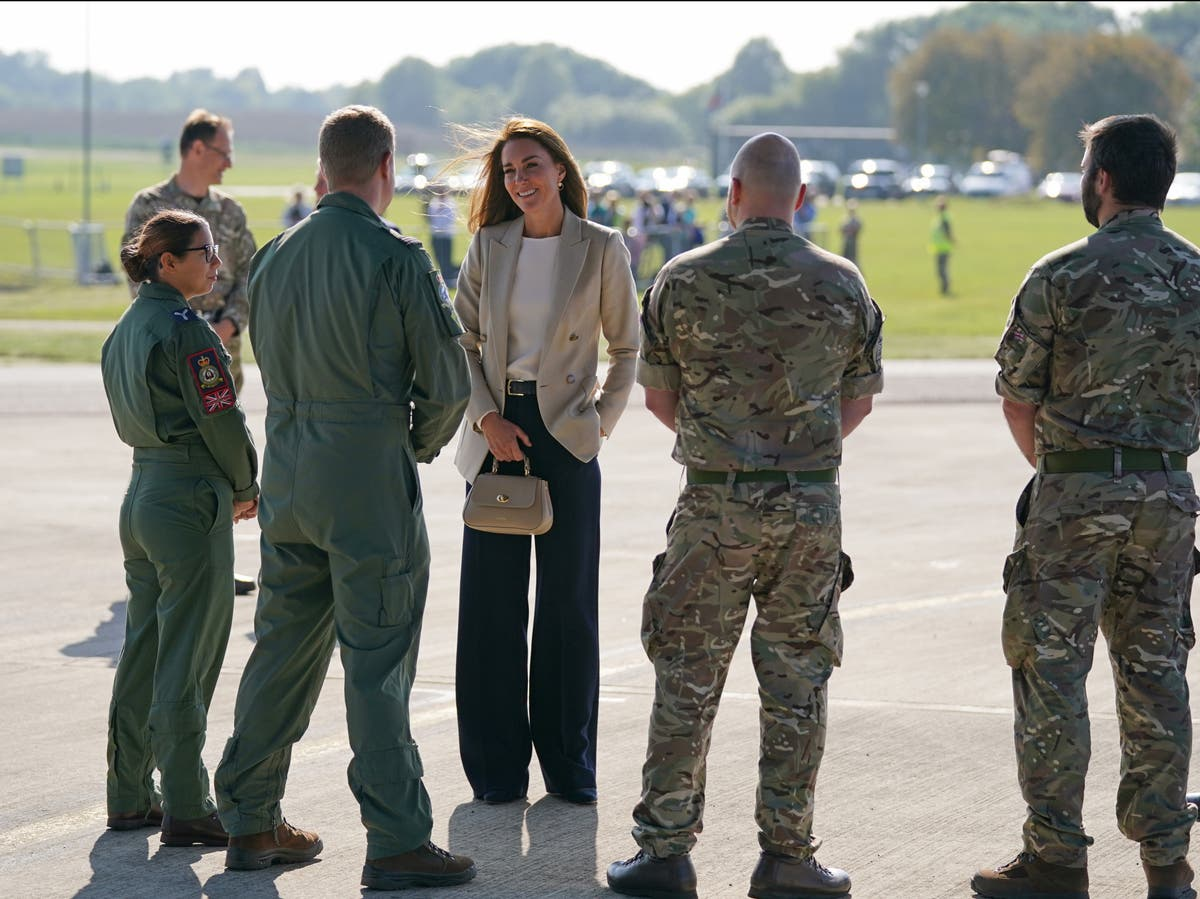 Kate Middleton meets military personnel who aided Afghan evacuation effort