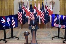 China says Aukus deal makes Australia 'nuclear war target' – follow live