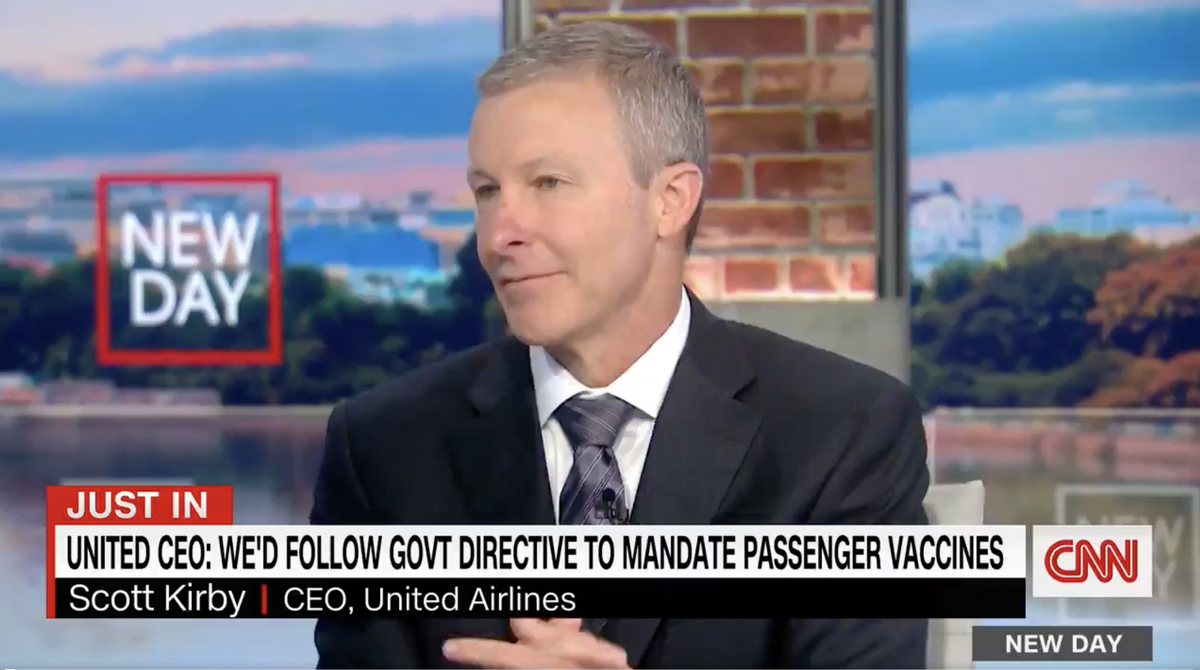 United Airlines CEO says workers who quit over vaccine mandate is in 'single digits'