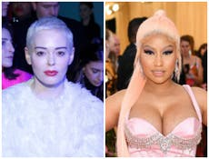 Rose McGowan claims she 'stands with Nicki Minaj' after Covid controversy