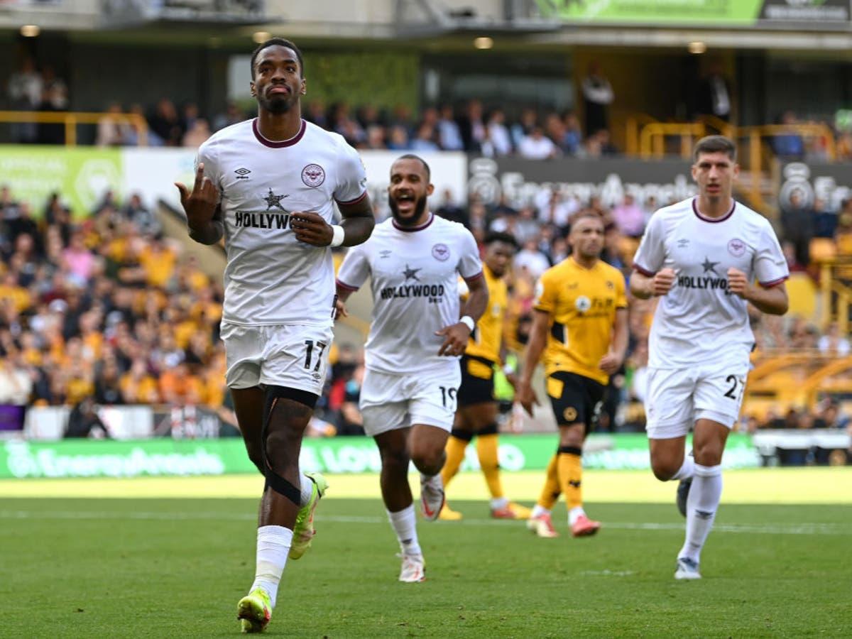 Ivan Toney inspires 10-man Brentford to victory at Wolves