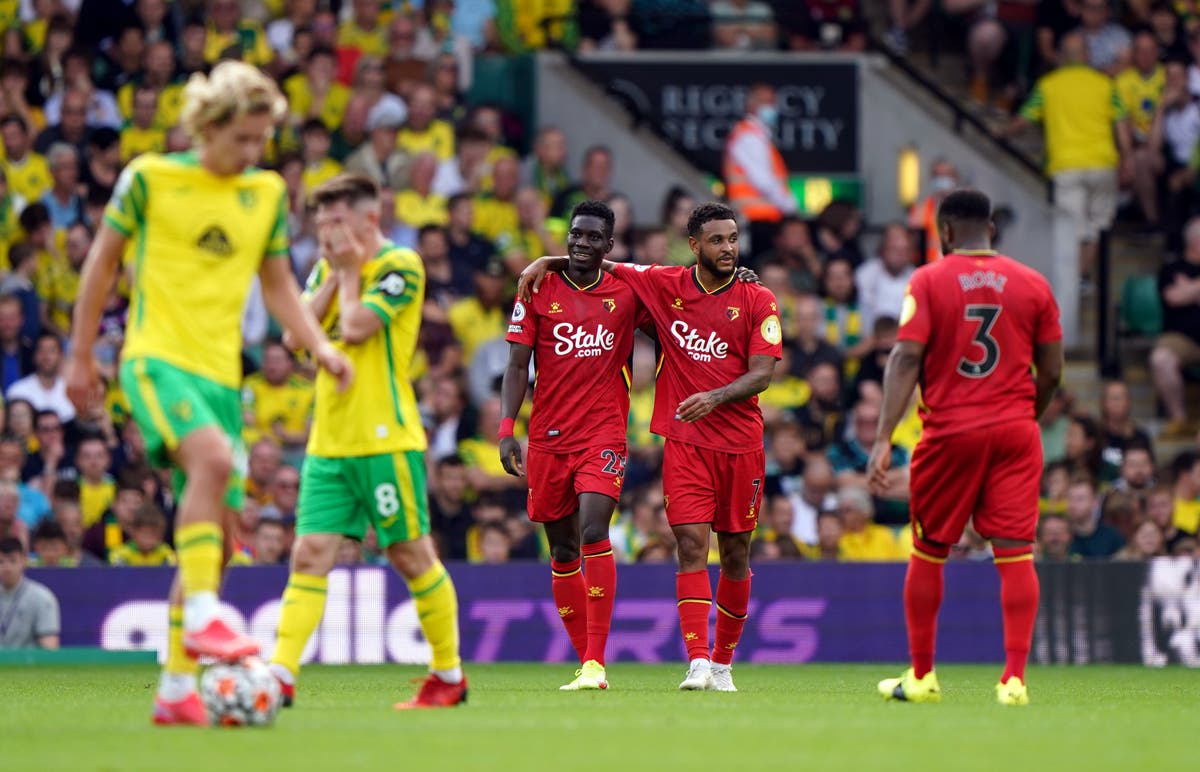 Ismaila Sarr double helps Watford pile more misery on Norwich