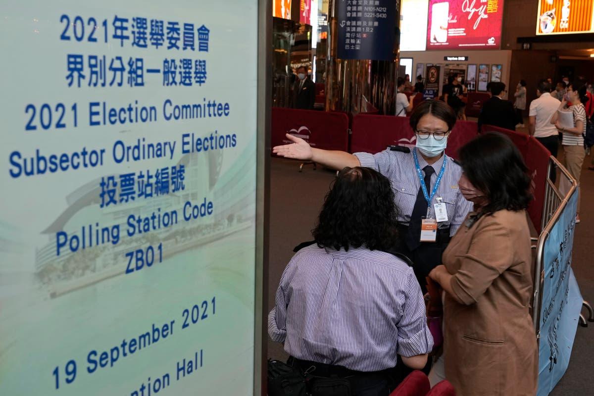 有権者は建制派の法律の下で新しい香港の選挙人を選ぶ