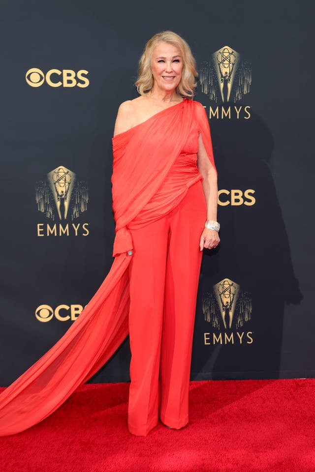 Catherine O'Hara in a Cong Tri jumpsuit