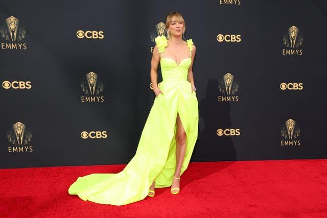 Kaley Cuoco in a custom Vera Wang dress