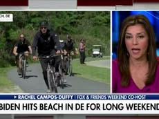 Fox News attacks Biden for riding a bicycle