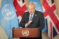 Boris Johnson arrives in Washington for Biden meeting – follow live