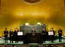 BTS perform new song at UN headquarters