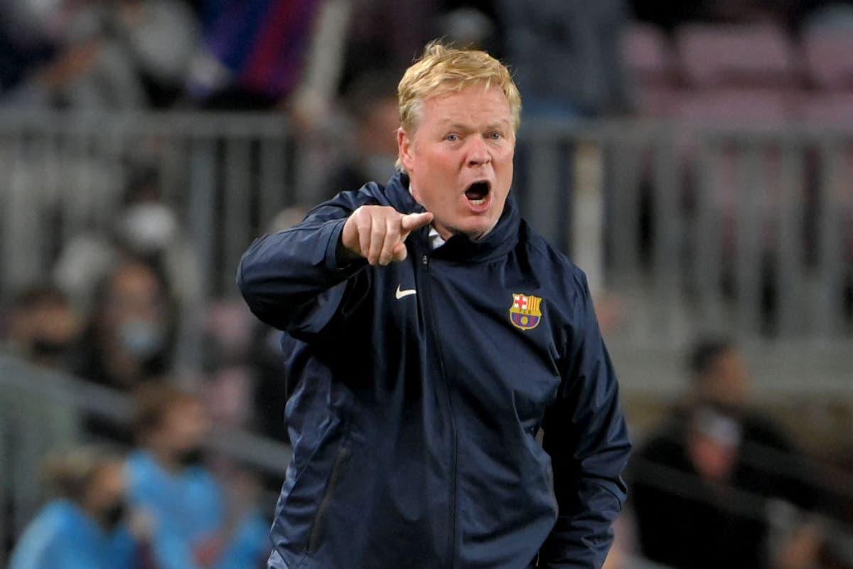 Ronald Koeman torna-se árbitro após ser expulso quando a pressão aumenta em Barcelona