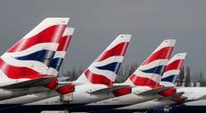 How many British Airways UK-US flights will return?