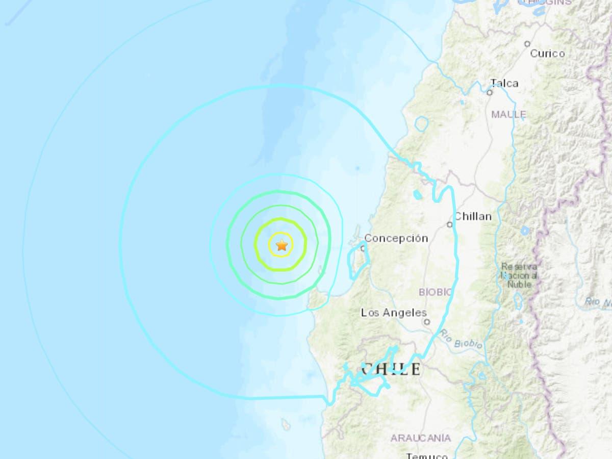 マグニチュード6.4の地震に襲われたチリ