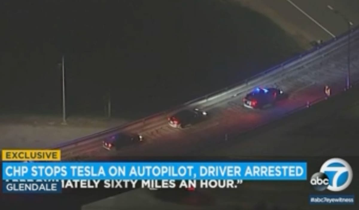 Tesla driver arrested for DUI allegedly using self-driving option while drunk