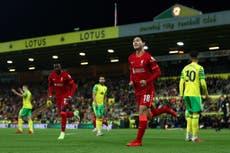 Liverpool cruise past Norwich in Carabao Cup as Takumi Minamino scores twice