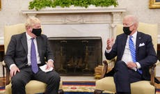 Biden ignore US reporters amid meeting with UK's Boris Johnson