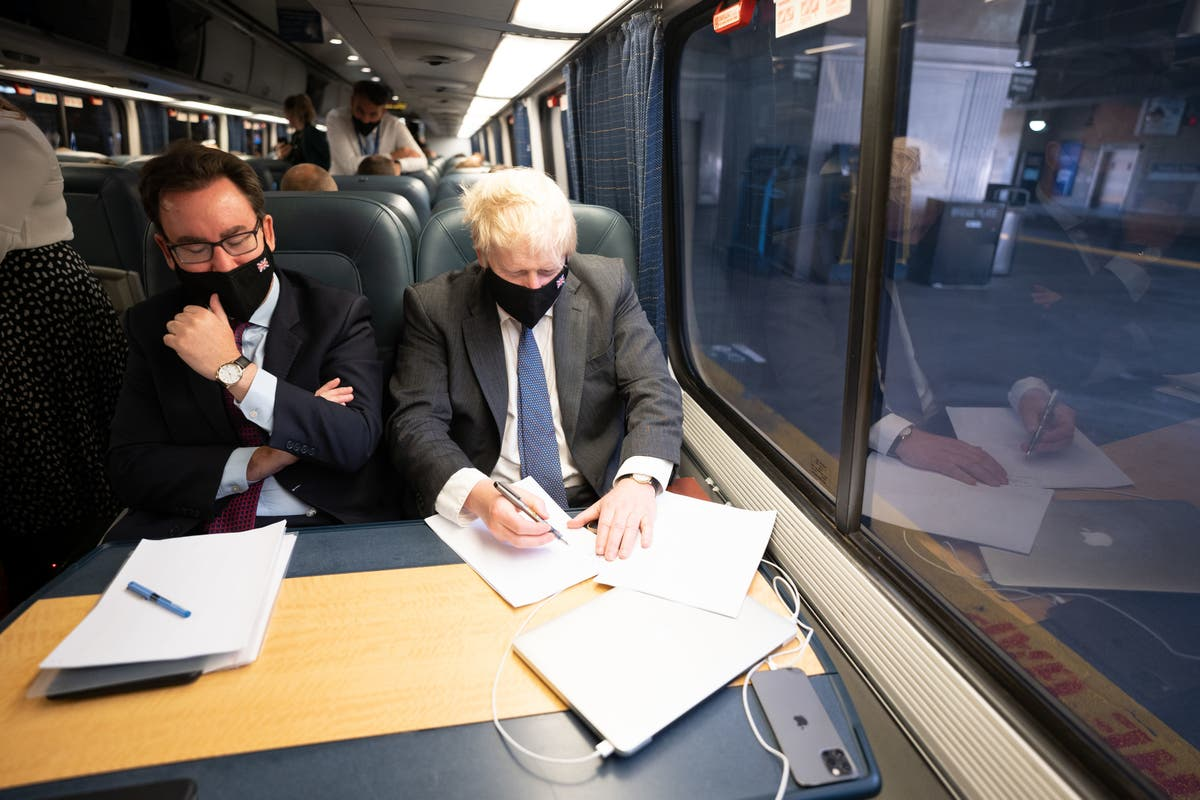 Shared love of trains brings Johnson and Biden together