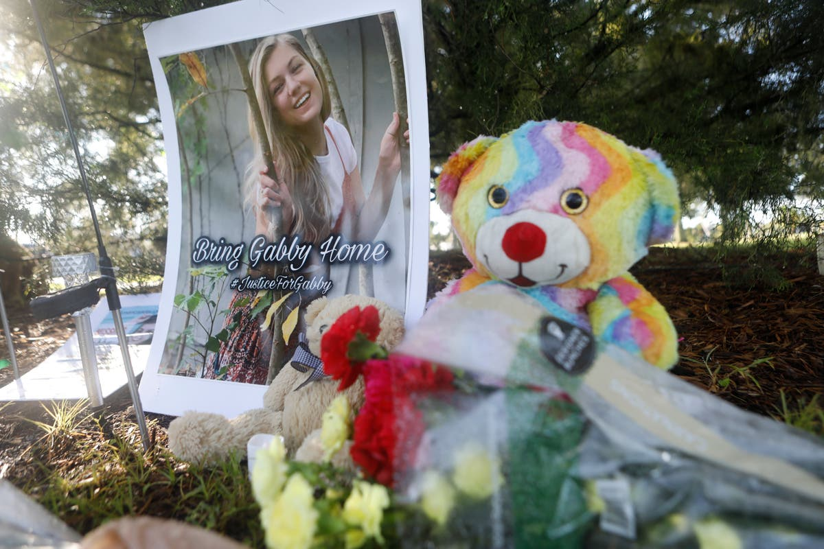 Gabby Petito's stepfather lays flowers at site where YouTuber's body found