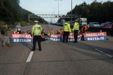 活動家は、M25の抗議者に対して差し止め命令が出された後、刑務所に入る危険を冒している