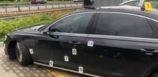 Skote op die motor van die voorste assistent van die Oekraïense president, bestuurder gewond