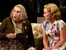 Jennifer Saunders is faultless as the eccentric clairvoyant in Blithe Spirit – review