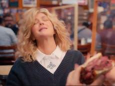 Drew Barrymore parodies When Harry Met Sally diner orgasm scene