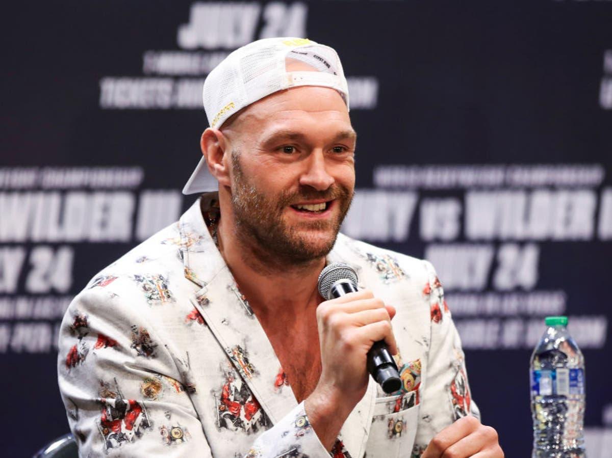 Tyson Fury tickled Oleksandr Usyk while sizing up Anthony Joshua's opponent