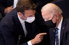 French ambassador returning to US after Biden and Macron call discussing Australian nuclear sub deal