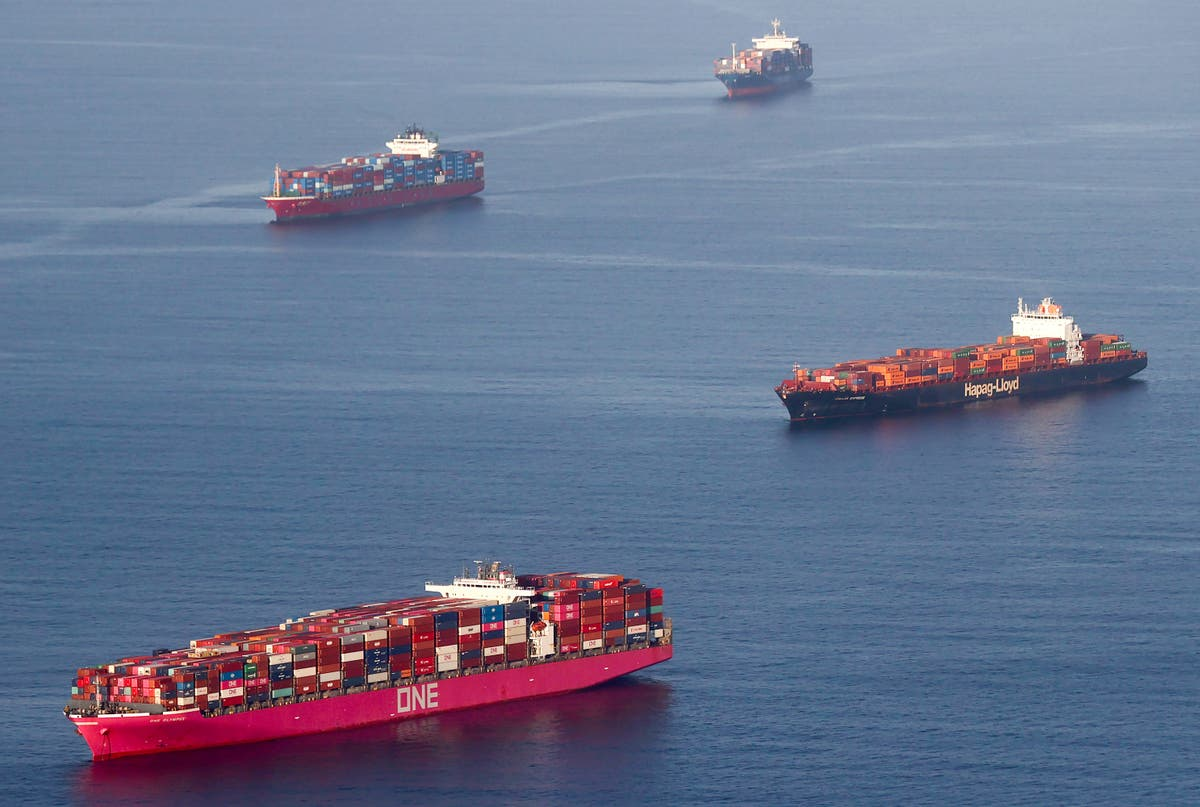 65 cargo ships queue outside America's biggest ports in supply chain disruption