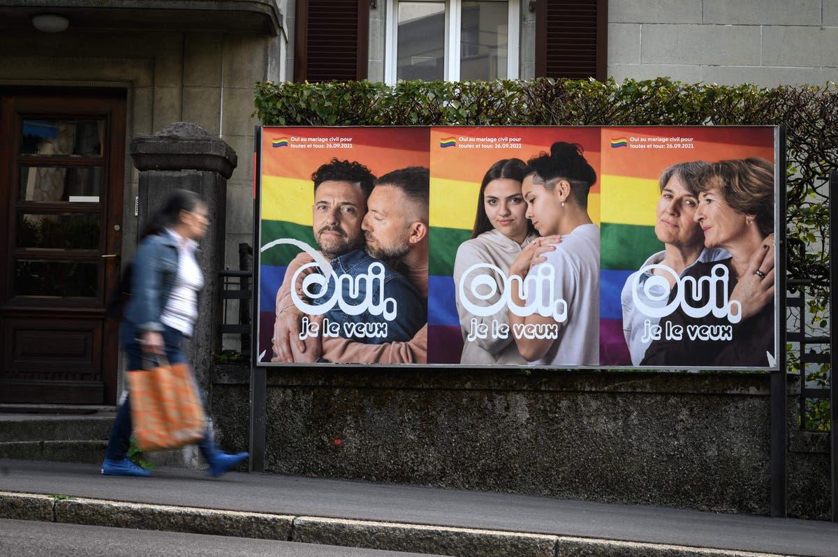 Suíça preparada para aprovar casamento entre pessoas do mesmo sexo e adoção, pesquisa de saída sugere