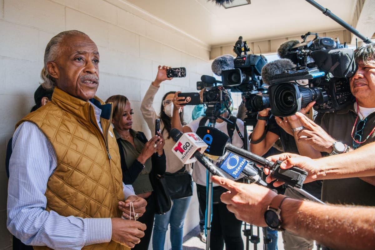Sharpton says deportation flights of Haitian migrants should end, tours Del Rio camps