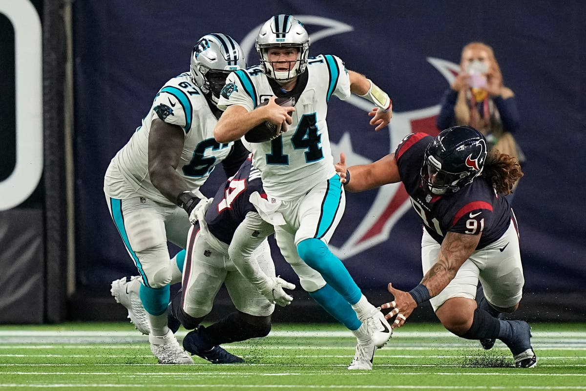 Sam Darnold has two touchdowns as Carolina Panthers beat Houston Texans