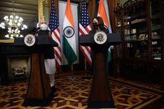 Kamala Harris hails India's vaccination drive in first Modi meeting