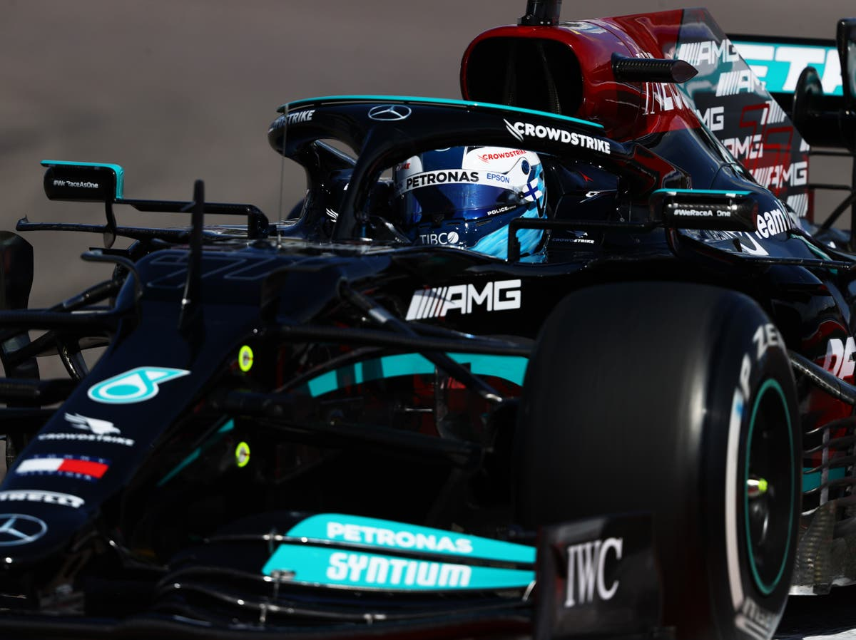 Valtteri Bottas leads Lewis Hamilton as Mercedes dominate first practice in Russia